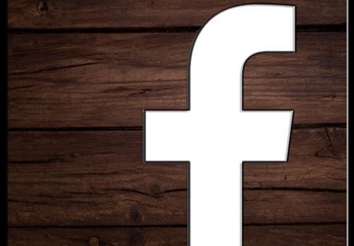 Facebook Logo Wood PNG Free
